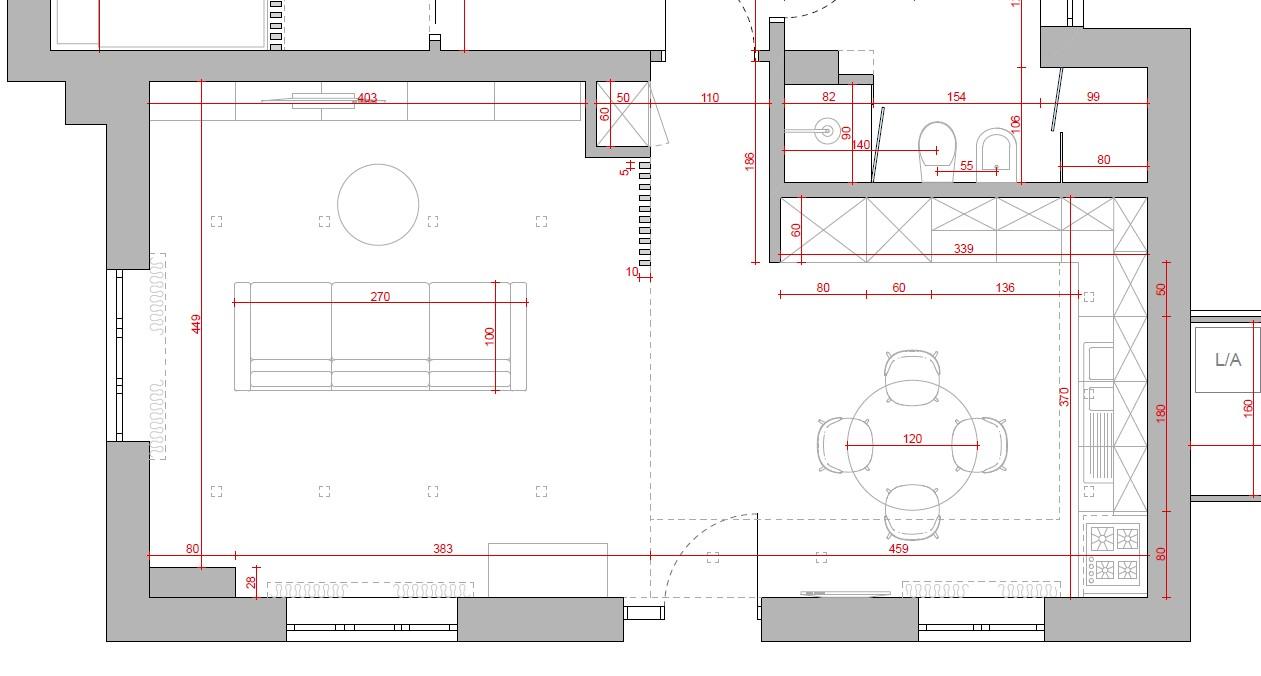 progetto soggiorno rettangolare dove posizionare camino