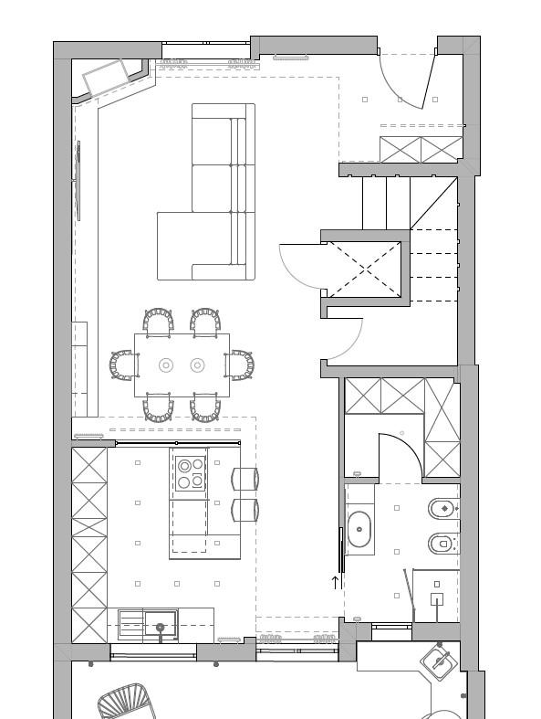 progetto soggiorno rettangolare idee per dividere ambiente
