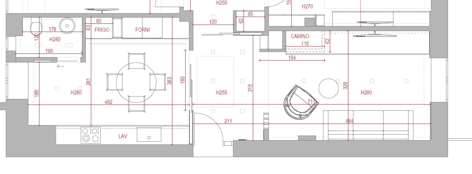 progetto soggiorno rettangolare idee per dividere spazi