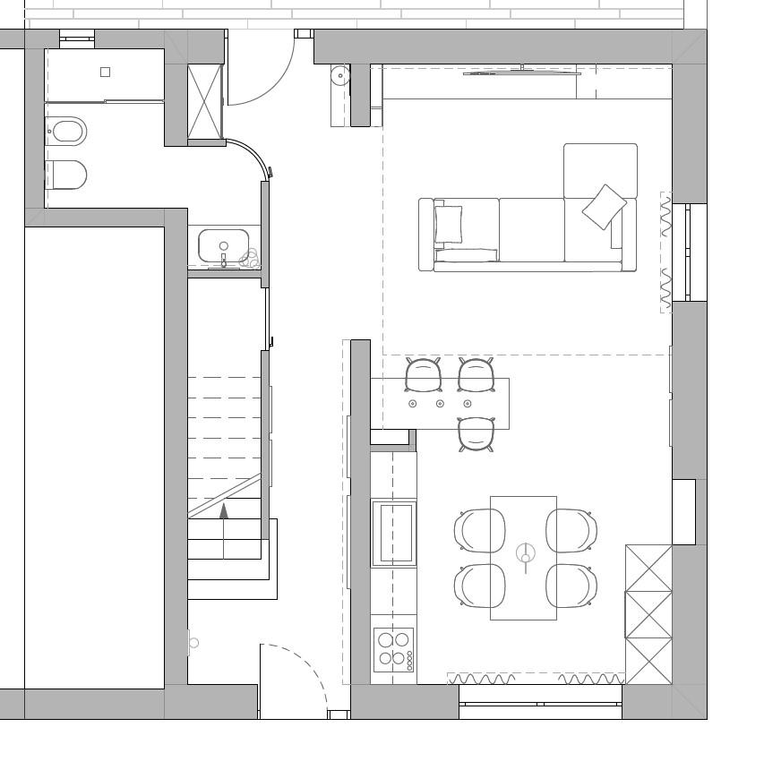progetto soggiorno rettangolare idee ottimizzare spazi divano tavolo