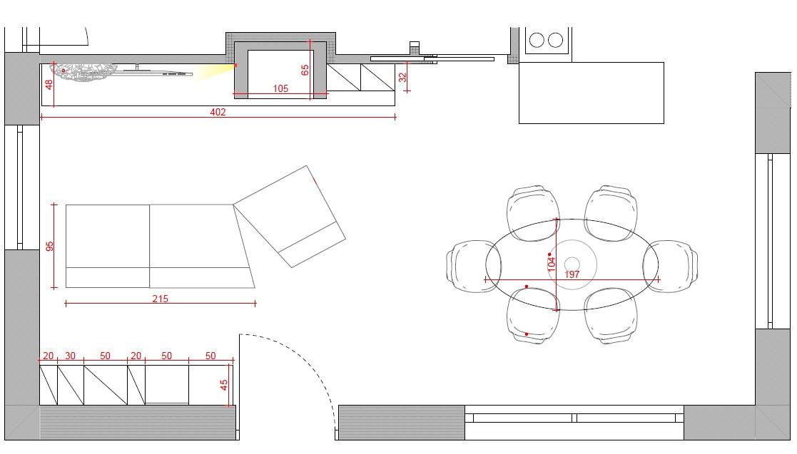 progetto soggiorno rettangolare idee ottimizzare spazi