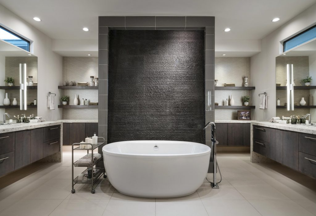 doppio lavabo in bagno stile americano