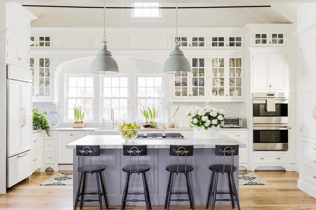 abbinamento colori cucina arredata in stile americano