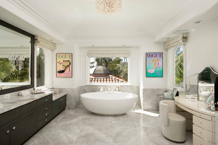 arredare bagno in stile americano