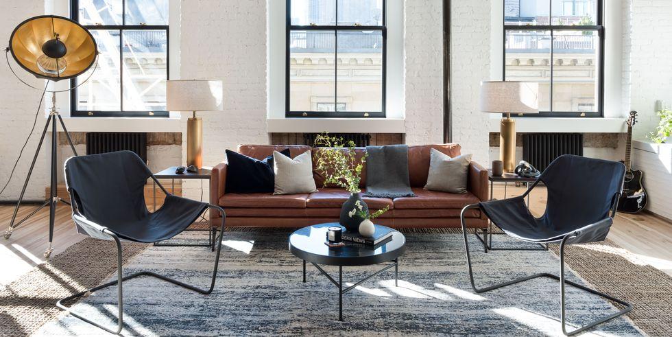 oggetti vintage in soggiorno in stile americano