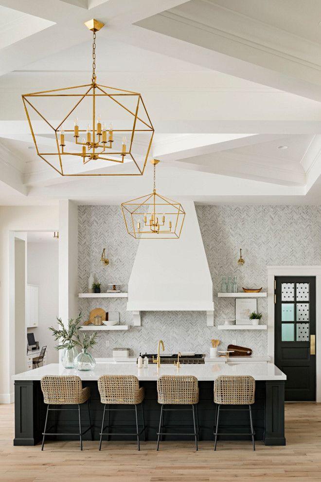 elegante cucina arredata in stile americano