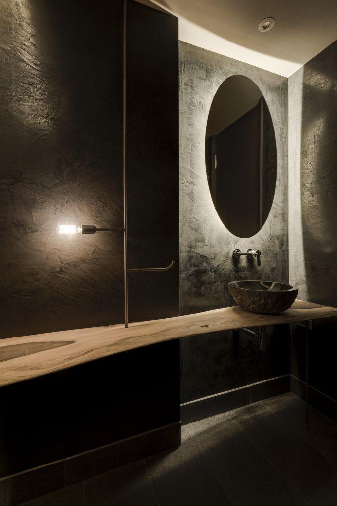 bagno in stile Wabi Shabi