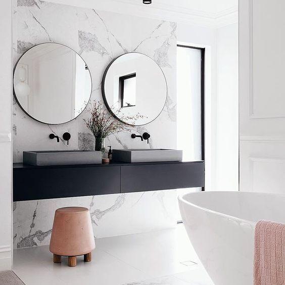 bagno in stile classico contemporaneo