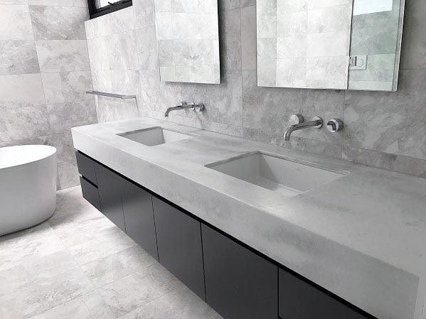Abbinare grigio in bagno