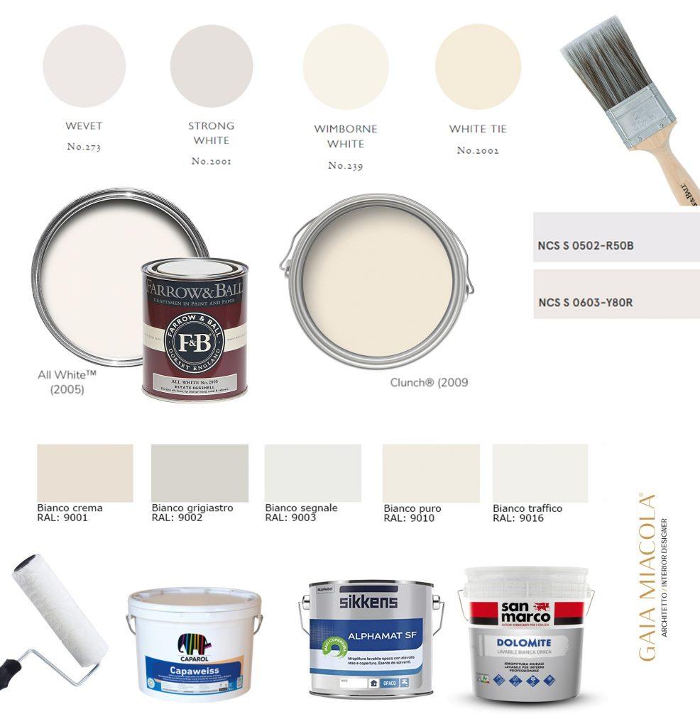 Bianco per i muri interni: